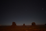 Night sky in Monument Valley, Monument Valley Tribal Park, Arizona