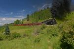 Cumbres & Toltec Scenic Railroad excursion train with steam locomotive No.488, Colorado