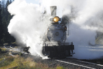 Former Denver & Rio Grande Western Railroad steam locomotive No.315 at Cumbres Pass, Durango Railroad Historical Society, photographed on the Cumbres & Toltec Scenic Railroad, Colorado