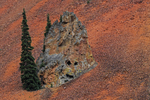 Face in a large rock, Colorado