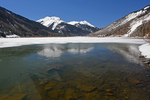Ice on Crystal Lake with Red Mountains No. 1, No. 2, and No. 3, Uncompahgre National Forest, Colorado