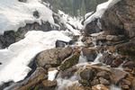 Melting snow in a Rocky Mountain stream, San Juan National Forest, Colorado