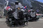 Steam locomotives No.473 and No.482, Durango & Silverton Narrow Gauge Railroad, Colorado