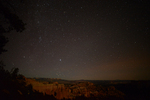 View of Bryce Canyon and the Night Sky, Bryce Canyon National Park, Utah