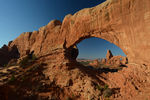 Turret Arch seen thru the North Window, Arches National Park, Utah