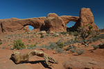 The North and South Windows, Arches National Park, Utah