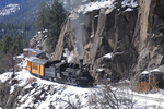 Cascade Canyon Winter Train pulled by steam locomotive No.473, Durango & Silverton Narrow Gauge Railroad, Colorado