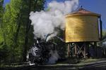 Steam locomotive No.484 at the Water Tank, Cumbres & Toltec Scenic Railroad, Chama, New Mexico