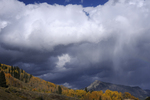 Storm clouds over Mt. Crested Butte, Colorado