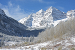 Fresh Fall Snow on the Maroon Bells, Maroon Bells Scenic Area, Colorado
