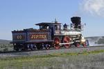 Steam locomotive wood burning Replica Central Pacific Railroad Jupiter, Golden Spike National Historical Park, Promontory Summit, Utah