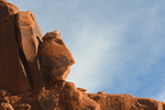 Rock Face in profile, Arches National Park, UT
