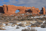 Winter landscape of the North Window, Arches National Park, UT