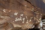 A Petroglyph Rock Art Panel, Arches National Park, UT