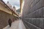 Intik'ijllu, Street, Cusco, Peru, Inka wall, colonial wall.