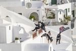 Parkour or free running, at the Red Bull Art of Motion, in Santorini, Greece, October 4, 2014.