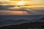 Ngorongoro Crater at sunset, Tanzania, Africa.