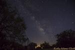 Milky Way, night sky, lights from Nogalas, Southern Arizona,