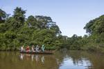 Tourists, eco-tourism, eco-tourists, Inkaterra Amazonia; Lake Sandoval; Madre de Dios River; Peru; Tambopata National Reserve