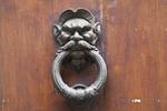 Door knocker in San Gimignano, Tuscany, Italy