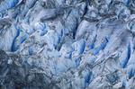 Surface view of Lamplugh Glacier in Glacier Bay National Park, Alaska.
