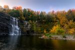 Salmon River Falls in autumn, New York, USA
