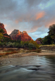Dawn Breaking in Zion Canyon, Zion National Park, USA