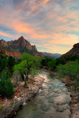 Sunset on the Watchman, Zion National Park, Utah