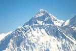 Mount Everest summit, aerial