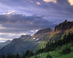 Montana, Glacier National Park, Garden Wall and stormy sky