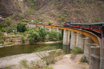 Mexico, Chihuahua, Copper Canyon railroad, large bridge at Temoris