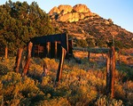 New Mexico, Gila National Forest, Burro Mountains, Old ghost town mine buildings, (view 2)