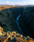 New Mexico, Rio Grande Gorge, Rio Grande Gorge Bridge, near Taos