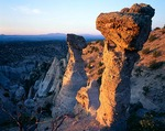 New Mexico, Kasha-Katuwe Tent Rocks National Monument, Tent rocks in first light, Jemez Mountains
