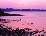 Ohio, East Harbor State Park, Middle Harbor, sunset sky, (view 2)