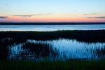 South Carolina, Hunting Island State Park, salt marsh at sunset