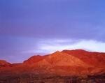 Texas, Franklin Mountains State Park, Last light on North Franklin Peak