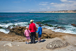 California, San Diego area, La Jolla,rocky shore, Patricia, Jason, and Michelle Parent