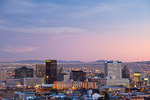 Texas, El Paso, downtown skyline at sunset