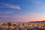 Texas, El Paso, downtown skyline at dusk
