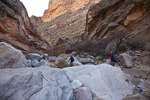 Texas, Big Bend Ranch State Park, The Solitario, Lower Shutup Canyon, hikers Heather Dobbins, Mary Baxter