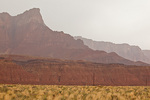 Arizona, Vermilion Cliffs National Monument, Vermilion Cliffs in the rain