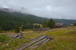 Colorado, White River National Forest, Sawatch Mountains, ghost town of Independence, thunderstorm