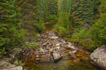 Colorado, White River National Forest, Sawatch Mountains, Roaring Fork River near Lincoln Creek confluence