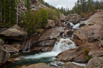 Colorado, White River National Forest, Sawatch Mountains, Roaring Fork River, waterfall near the Grottos