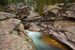Colorado, White River National Forest, Sawatch Mountains, Roaring Fork River, waterfall at the Devils Punchbowl