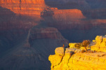 Arizona, Grand Canyon National Park, South Rim, Yavapai Point in last light, people on point