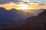 Arizona, Grand Canyon National Park, South Rim, Mather Point, sunrise sky