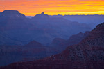 Arizona, Grand Canyon National Park, South Rim, Mather Point, sunrise view of canyon