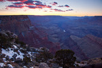 Arizona, Grand Canyon National Park, South Rim, Lipan Point view of canyon, sunset